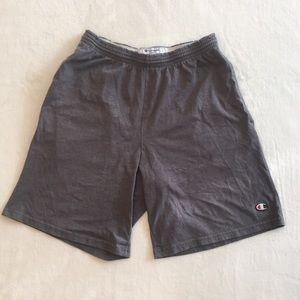 Vintage Champion Gym Shorts Gray Size Medium